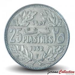 LIBAN - PIECE de 25 Qirshā / Piastres - 1952 Km#16.1
