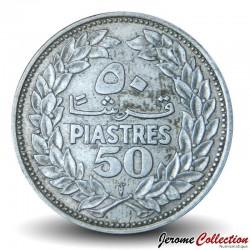 LIBAN - PIECE de 50 Qirush / Piastres (Argent) - 1952 Km#17