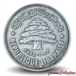 LIBAN - PIECE de 50 Qirush / Piastres (Argent) - 1952