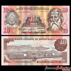 HONDURAS - Billet de 10 Lempiras - 26.08.2004 P86c
