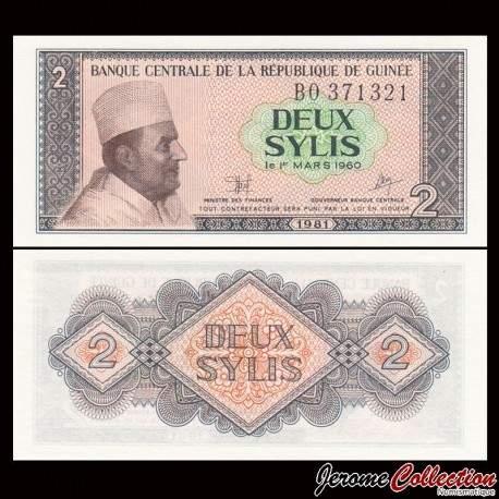 GUINEE - Billet de 2 Sylis - 1981 P21a
