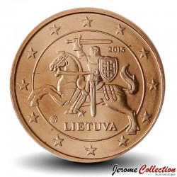 LITUANIE - PIECE de 5 Cents - Le chevalier Vytis - 2015 Km#207