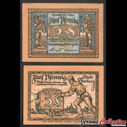 ALLEMAGNE - Notgeld - Freiberg - Billet de 5 Pfennig - 1921 N#275379