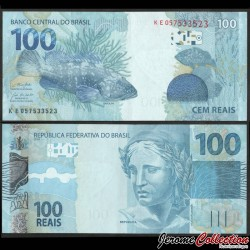 BRESIL - Billet de 100 Reais - Poisson Garoupa - 2019 P257f