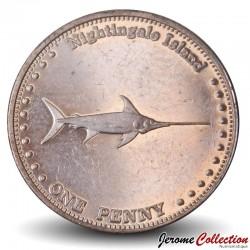 ILE NIGHTINGALE - PIECE de 1 Penny - Espadon - 2011 N#32361