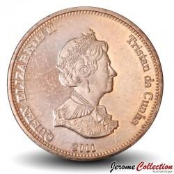 ILE NIGHTINGALE - PIECE de 1 Pence - Thon rouge - 2011