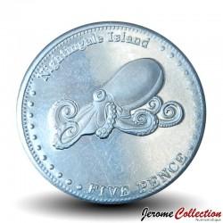 ILE NIGHTINGALE - PIECE de 5 Pence - Pieuvre - 2011 N#32592