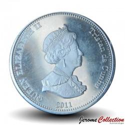 ILE NIGHTINGALE - PIECE de 10 Pence - Un requin bleu - 2011