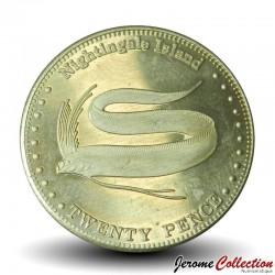 ILE NIGHTINGALE - PIECE de 20 Pence - Régalec ou poisson-ruban - 2011 N#32594