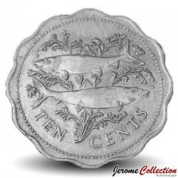 BAHAMAS - PIECE de 10 CENTS - Deux bonefish - 1998 Km#61