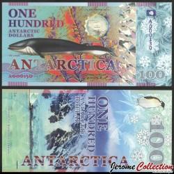 ANTARCTICA - Billet de 100 Antarctic Dollars - Rorqual commun - 2020 0100-2020