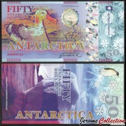 ANTARCTICA - Billet de 50 Antarctic Dollars - Albatros hurleur - 2020 0050-2020