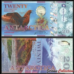 ANTARCTICA - Billet de 20 Antarctic Dollars - Oiseau Skua antarctique - 2020 0020-2020
