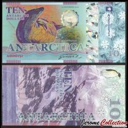 ANTARCTICA - Billet de 10 Antarctic Dollars - Phoque crabier - 2020 0010-2020