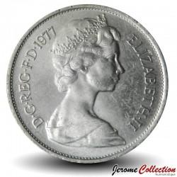 ROYAUME UNI - PIECE de 10 Nouveaux Pence - Lion - 1977