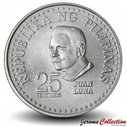 PHILIPPINES - PIECE de 25 Sentimos - Peintre Juan Luna - 1975 Km#208