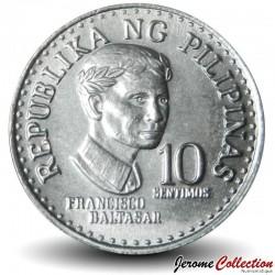 PHILIPPINES - PIECE de 10 Sentimos - Francisco Baltasar - 1976 Km#207