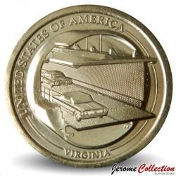 ETATS UNIS / USA - PIECE de 1 Dollar - Industrie et l'innovation - Chesapeake Bay Bridge-Tunnel - Virginie - D - 2021 N#285469