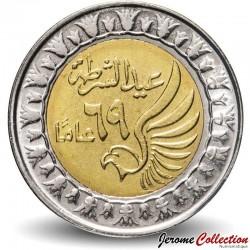 EGYPTE - PIECE de 1 Pound - Journée de la police - Bimétal - 2021 N#269796