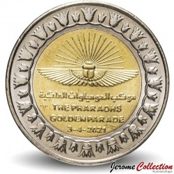 EGYPTE - PIECE de 1 Pound - Parade dorée des Pharaons - Bimétal - 2021 N#300367