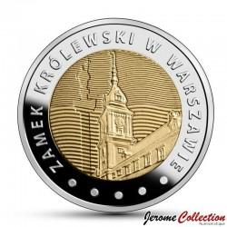 POLOGNE - PIECE de 5 ZLOTE - Palais Royal de Varsovie - 2014 Y#913