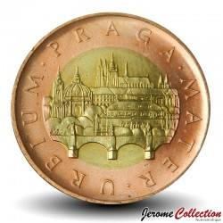 REPUBLIQUE TCHEQUE - PIECE de 50 Korun - Pont Charles et du château de Prague- 2006 Km#1