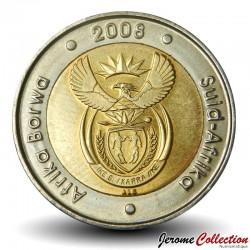 AFRIQUE DU SUD - PIECE de 5 Rand - 90 ème anniversaire de Nelson Mandela - 2008