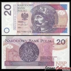 POLOGNE - Billet de 20 Złotych - Boleslas Ier de Pologne - 05.01.2012