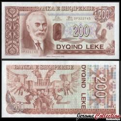 ALBANIE - Billet de 200 Leke - Ismail Qemali - 1994 P56a