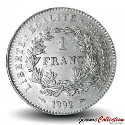 FRANCE - PIECE de 1 Franc - Bicentenaire de la République française - 1992