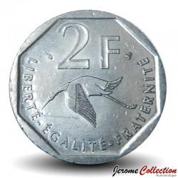 FRANCE - PIECE de 2 Francs - Georges Guynemer / Cigogne - 1997