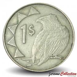 """NAMIBIE - PIECE de 1 Dollar - Aigle """"Bateleur des savanes"""" - 1993 Km#4"""