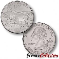 ETATS-UNIS / USA - PIECE de 25 Cents (Quarter States) - Nord Dakota