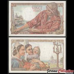 FRANCE - BILLET de 20 Francs - Pécheur - 7.10.1943 P100a7