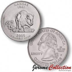 ETATS-UNIS / USA - PIECE de 25 Cents (Quarter States) - Kansas - 2005