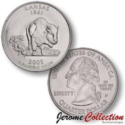 ETATS-UNIS / USA - PIECE de 25 Cents (Quarter States) - Kansas - 2005