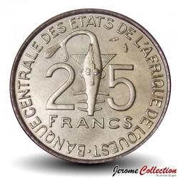 ETATS DE L'AFRIQUE DE L'OUEST - PIECE de 25 FRANCS - Laborantine - FAO - 1980
