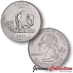 ETATS-UNIS / USA - PIECE de 25 Cents (Quarter States) - Kansas
