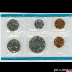 ETATS-UNIS / USA - SET / LOT de 6 PIECES de 1 5 10 Cents ¼ ½ DOLLAR - 1972