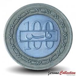 BAHREÏN - PIECE de 100 Fils - Bimétal - Armoiries de Barheïn - 1992 Km#20