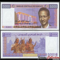 DJIBOUTI - Billet de 5000 Francs - 2020 P44b
