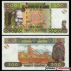 GUINEE - Billet de 500 Francs - 1998