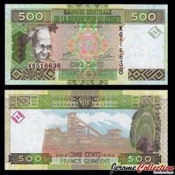 GUINEE - Billet de 500 Francs - 2012