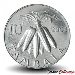 MALAWI - PIECE de 10 Tambala - Epis de maïs - 1995 Km#27