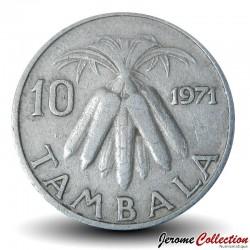 MALAWI - PIECE de 10 Tambala - Epis de maïs - 1971 Km#10