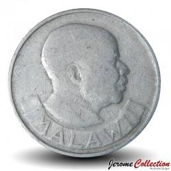 MALAWI - PIECE de 10 Tambala - Epis de maïs - 1971