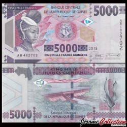 GUINEE - Billet de 5000 Francs - 2015