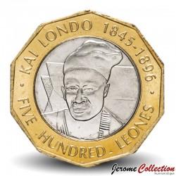 SIERRA LEONE - Pièce de 500 Leones - Roi Londo Kai - 2004 Km#296
