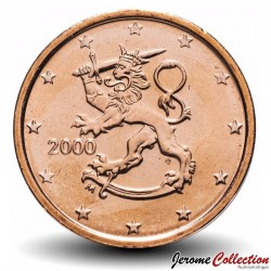 FINLANDE - PIECE de 2 Cent d'Euro - Le lion de Finlande - 2000 Km#99