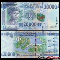 GUINEE - Billet de 20000 Francs - 2015